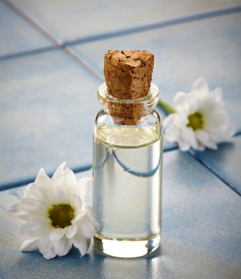 Bottle of Spa essential oils